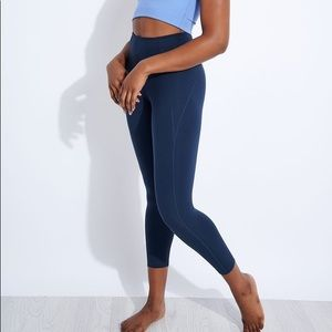 Girlfriend collective navy cropped 7/8 leggings